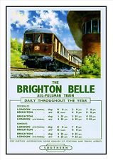 The Brighton Belle Railway Vintage Retro Oldschool Old Good Price Poster