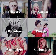 True villains of ahs Evan Peters, Roanoke Ahs, American Horror Story Series, The Almighty Johnsons, Tate And Violet, Horror Show, Coven, Fantasy, Best Shows Ever