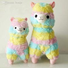 Wholesale-2015 Kawaii Rainbow 45CM Alpacasso Plush Doll Large ...