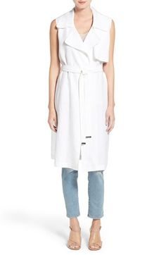 Vince Camuto Belted Sleeveless Linen Duster. www.italianist.com