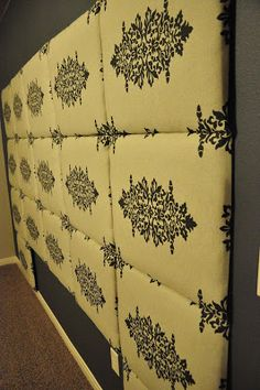 do on cardboard with cool fabric for Nick Tutorial: How to make a Fabric Headboard