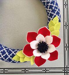 Guirnalda corona azul corona patriótica guirnalda de por madymae