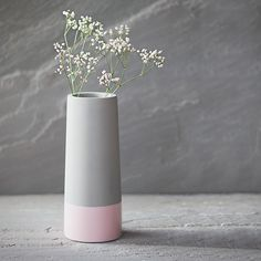 Lovely photo of a simple vase, very tastefully displayed off centre and softened by the flower spray. Industrial Wall Mirrors, Industrial House, Concrete Plant Pots, Concrete Wall, Wall Mirror With Shelf, Flower Spray, Concrete Projects, Vase, Unique Furniture