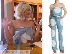 Renee-Young-jumpsuit saks Off strapless print jumpsuit total divas Wwe Total Divas, Strapless Jumpsuit, Printed Jumpsuit, Season 4, Tv, How To Wear, Shopping, Clothes, Dresses