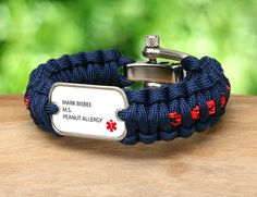 Survival Straps - Made of military paracord!  There are 2 types of Medical Alert!  Standard, and Customize!!! :)
