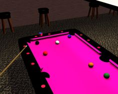 Pink Pool Table by ~dragonstar-msg. Ok, we'll that's a little much, but it is pink, just saying.