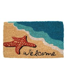 Another great find on #zulily! Starfish 'Welcome' Doormat by Entryways #zulilyfinds
