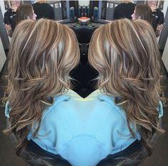 Trendy Hair Highlights : Highlights lowlights. Brown. Blonde. Dimensional Hair By @hair_by_megann coffees