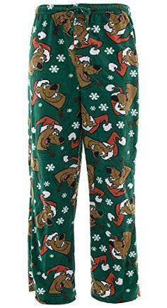 fe6f26e316 Scooby Doo Mens Christmas Holiday Fleece Lounge Pants Lounge Pants