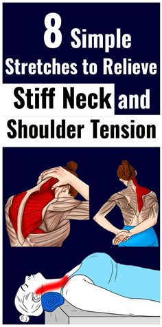 8 Stretches to Relieve Stiff Neck and Shoulder Tension - Fibromyalgie - pain is a battlefield - Health Shoulder Tension, Fitness Motivation, Heart Attack Symptoms, Calendula Benefits, Coconut Health Benefits, Yoga, Health Problems, Health Tips, Women's Health