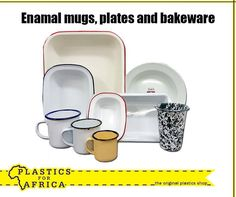 At we have beautiful enamel mugs, plates and bakeware - just like grandma used to use! Visit your nearest branch today. Plastic Shop, Bakeware, Kitchens, Enamel, Soap, Facts, Plates, Mugs, The Originals