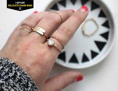 MY DIY   Delicate Chain Ring   I SPY DIY