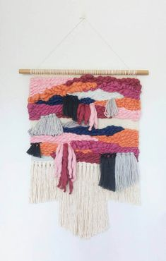 Woven Wall Hanging - Tapestry Wall Hanging - Weaving - Fiber Art - Textile Art - Home Decor - Handwoven - Boho Wall Hanging - OSTARA