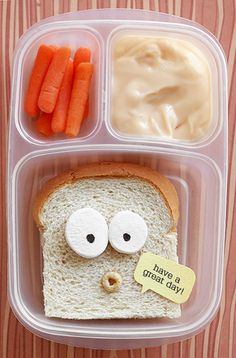 seeing this when they opened their lunches would make my kids laugh so hard!