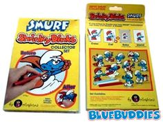 These are the REAL smurfs!!!  At least the ones I grew up watching and loved as a kid :)  Does anyone remember the shrinky dinks that you put in the oven.  The heat would cause them to shrink down to an itty bitty size...loved those things!