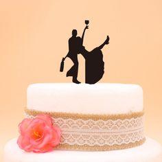 Bride and Groom Fanny Acrylic Wedding Cake Topper - Wedding Look