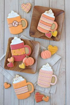Fall Decorated Cookies, Fall Cookies, Cute Cookies, Holiday Cookies, Cupcake Cookies, Cupcakes, Thanksgiving Cookies, Coffee Cookies, Iced Cookies