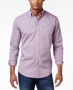 Tommy Hilfiger Men's Capote Shirt - Purple XXL