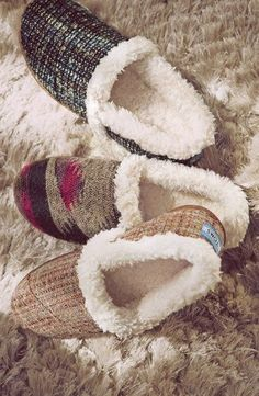 Cozy slippers by TOMS