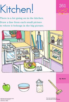 In the House: What Doesn\'t Belong? | Preschool worksheets free ...