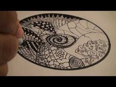 Let's Draw - 001: How to Draw a Mandala with Zentangles - TCGames [HD]!