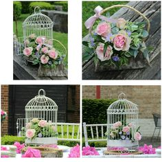 Happy to present my beautiful launch from last weekend birdcage and floral bag arrangements