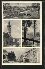 alte AK Grieskirchen, Panorama, Pfarrkirche, Straßenleben