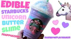STARBUCKS Unicorn Frappuccino is all over the place right now! What better time to make some Edible Butter slime into a FUN Starbucks Unicorn Frappuccino!