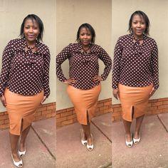 Classic look polka dot pencil skirt curves color