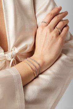 Suzanne Kalan - 18-karat White Gold Diamond Bracelet - one size