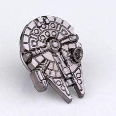 Moda Broszka Millennium Falcon Gwiezdne Wojny Złoty/Czarny Kolory Mini Star Wars Kosmicznym Przycisk Pin Badge Broszka Odzież Akcesoria