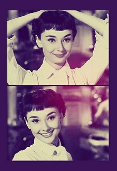 A young Audrey Hepburn in Roman Holiday from 1953, one of her many many great…
