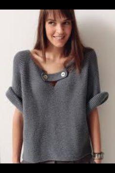 Jersey de lana para mujer hecho a mano