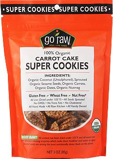 Go Raw Carrot Cake Super Cookies aren't really cookies, but they might as well be...