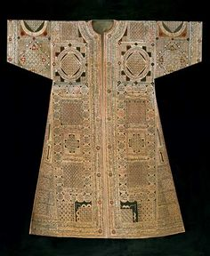 16th century Ottoman, talismanic shirt made from fine linen decorated with various suras and verses from the Koran, together with magical letters and numbers used in forecasting the future.