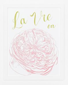 La Vie en Rose Print by sycamorestreetpress on Etsy, $35.00