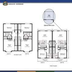 Introducing Our First Ever Duplex Floor Plan Adair Homes 2424 The Pines