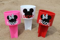 THREE Mickey/Minnie Mouse Beach Spiker  by StudioFourDesigns, $39.00