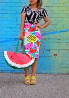 Love how @xoCourtneyQuinn styled our fruit skirt!