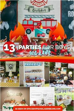 13 Parties for Boys We Love. These are awesome idea that you can incorporate into your little baby boy Baby Shower! ❤