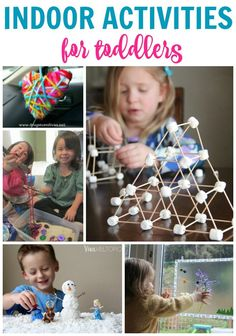 These indoor activities for toddlers are perfect for cold or rainy days!