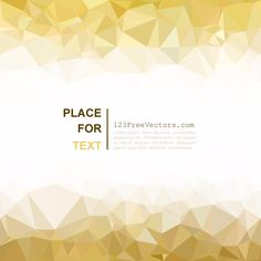 Light Golden Abstract Polygonal Background Free