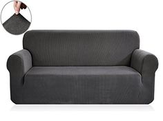 Chunyi Jacquard Sofa Covers 1-Piece Polyester Spandex Fabric Slipcover (Sofa, Gray).   For product info please visit:  https://homeandgarden.today/chunyi-jacquard-sofa-covers-1-piece-polyester-spandex-fabric-slipcover-sofa-gray/