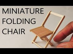 DIY /ミニ折りたたみ椅子の作り方/ How to make a miniature folding chair(really works!!) - YouTube