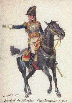 Command and staff: Plate General of Division of Cuirassiers, (red and gold sash) French Pictures, Etat Major, Battle Of Waterloo, Total War, French Empire, French Army, Napoleonic Wars, Modern Warfare, American Civil War