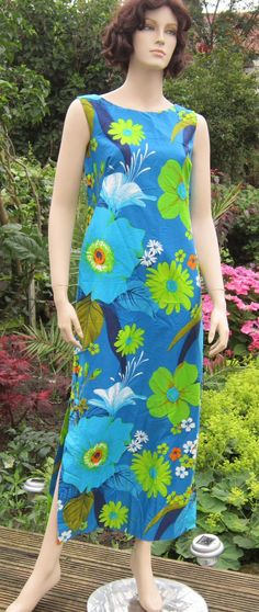 60s Hukilau Fashions Hawaiian cotton maxi by vintageartizania, $49.99