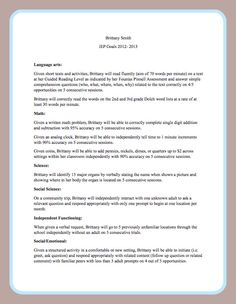 IEP goals and objectives on Pinterest | Autism Classroom, Autism and ...