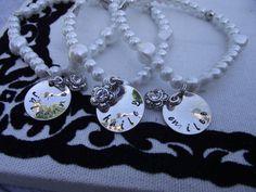 Pearl Handstamped Bracelet  - $13.99. http://www.bellechic.com/products/7dee3e8f13/pearl-handstamped-bracelet