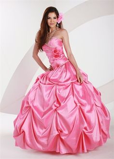 Ball Gown Strapless Sweetheart Neckline with Hand Made Flower and Beadings Floor Length Taffeta Quinceanera Dress QD1093 www.dresseshouse.co.uk £206.0000  ----2013 Prom Dresses,Prom Dresses 2013,Prom Dresses,Prom Dresses UK,2013 Prom Dresses UK,Prom Dresses 2013 UK