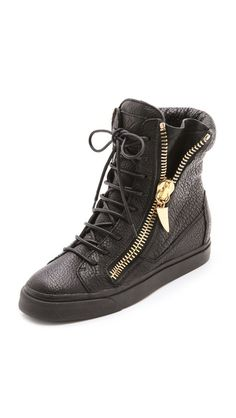 luving this....abit pricy for me.....Giuseppe Zanotti London Zip High Sneakers
